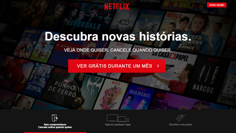 Telefone Netflix - SAC e 0800