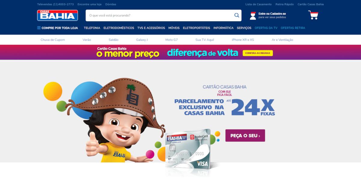 Telefone Cartão Casas Bahia