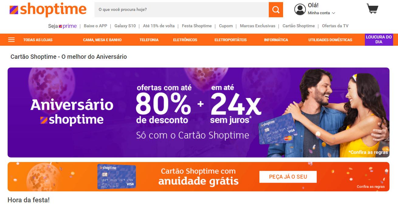 Telefone Cartão Shoptime